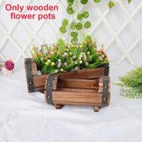 Vases Succulent Box Po Props Flower Pots Planter Craft Fleshy Case Home Decoration Rustic Trunk