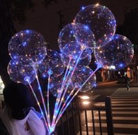 Decor de la fête LED Bobo Ballon avec 31.5inch Stick 3m String Ballons Ballons LED LEDS CLASSEMENT HALLOWEEN BALLOOE ANNIVERS DE BALLOOE SN2757
