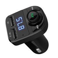 X8 FM Transmetteur AUX Modulateur Bluetooth Kit mains libres Audio Lecteur MP3 avec 3.1a Chargeur de voiture à double charge rapide Accessoire de chargeur de voiture USB