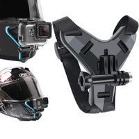 Hjälmbandfäste för GoPro Hero 9 8 7 6 5 4 3 Motorcykel Yi Action Sports Camera Mount Full ansiktshållare Tillbehör