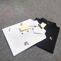 Erkek Polos Avrupa Amerikan Moda Marka Kalite Polo Işlemeli Kısa Kollu Günlük Ve İş Yaka Gömlek Nakış Süreç Tasarım