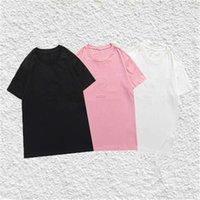 Moda stilista Mens T Shirt 3D Schiuma Lettere manica corta Manica magliette Uomo Donna Coppie PullOver di alta qualità Tee