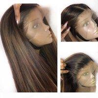Glueless 360 Lace Human Human Wigs com destaques Loira Peruana Peruana Renda Completa Peruca Remy Cabelo Prejuído com Cabelo Do Bebê