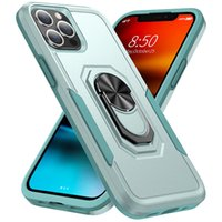 Ring Holder Kickstand Airbag Colorblocking Cell Phone Cases for iPhone 7 8 Plus XR XS 12 Pro Max 13 Mini SE2 Sam S20 S21 FE Note 20 Ultra A02S A32 Moto G Play 2021 Back Covers
