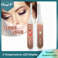 CkeyiN Electric Heated Eyelash Curler Rechargeable 4 Temperatures 10S Quick Heating Long Lasting Natural Curling Make-Up Tool 48