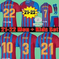 soccer jersey FC BARCELONA 20 21 camiseta de futbol ANSU FATI 2020 2021 Messi GRIEZMANN DE JONG Maillots de football shirt Men + Kids kit