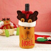 Weihnachtsdekorationen Weinflasche Abdeckung Bar Produkte Champagner Aufbewahrungstasche Home Weihnachtsbaum Blume Stocking Geschenk 2021 Dekor Jahr WY1385