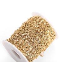 2M Edelstahl flache ovale Lippenform Wasserwellenkette für Anhänger Halskette DIY Schmuckherstellung Erkenntnisse Großhandel Lose Bulk 1518 Q2