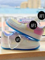 2021 new AF 1 '07 LX Photochromic men women kids basketball shoes AF1 One UV Reactive Colour Changing trainers youth GS sneaker big boy Force sports sneakers