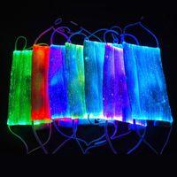 Другие события Партии для вечеринок Светящиеся светодиодные световые маски для лица USB аккумуляторная пыль для Хэллоуин Рождественский фестиваль танцы опора
