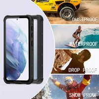 IP68 Waterproof Clear Lanyard Strap Case for Samsung S21 Dustproof Full Protective Hybrid Armor Rugged Transparent Phone Cover Snowproof Antifouling Shell