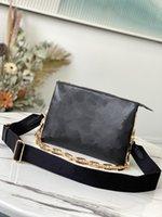 Весенняя цепь 2021 тисненные пухлые кожаные сумки PM Coussin сумка сумка мода вперед ремешок летний кошелек с кошельком высочайшее качество CRO GVUF