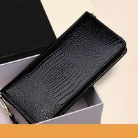 Wallets Patent Leather Ladies Wallet Long Zip Hand Bag Large Capacity Mobile Phone Korean Purse Student