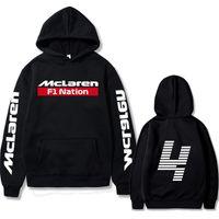 Sweat Hiver Formula One Racer Lando Norris F1 McLaren Team Racing Fans Sweats à capuche Homme / Femmes Veste surdimensionnée avec chapeau