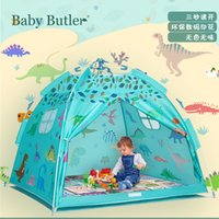 Outdoor Kinderheim Zelt Jungen und Mädchen Park Dinosaurier Welt Gedruckt Spielzeughaus Himmel blau mit