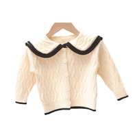 Girls Cardigan Kids Coats Baby Outerwear Cotton Crochet Knitting Patterns Children Sweaters Autumn Winter Clothing Jacket Top B8618