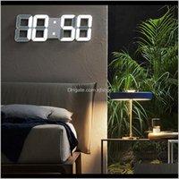 Ekran LED Alarm İzle USB Şarj Elektronik Dijital Saatler Duvar Horloge 3D Dijital Saat Ev Dekorasyon Ofis Masa Masası Saat P7EJ IXBK4