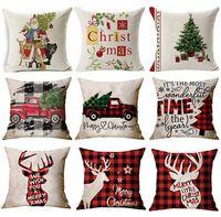 176 Designs Christmas Pillow Case Santa Claus albero di Natale Snowman Cuscino Cuscino Colorato Cover Cover Cuscino per la casa Auto Decorazione Auto Cuscino