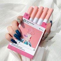 Lip Gloss 5Pcs Set Cigarette Lipstick Matte Velvet Lasting Non-Stick Cup Creative Pink Girl Student Glaze Makeup Cosmetics