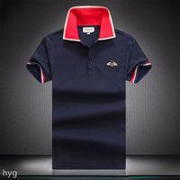 2021ss Erkek Tasarımcı Polos Gömlek Erkekler Yüksek Kaliteli Timsah Nakış Logosu Büyük Boy M-3XL Kısa Kollu Yaz Rahat Pamuk Polo Gömlek Lol