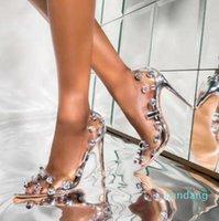 size 35 To 42 with box glitter clear heels silver crystal rhinestone designer high heels Designer Pumps Bridal Wedding Shoes