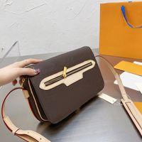 Mulheres Medium Câmera Antiga Bag Maior Capacidade Crossbody Bolsa Retro Square Ombro Bolsas Clássico Velho Flor Back Package