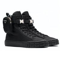 2021 Колесные дизайнеры Обувь Высокие Верхние повторно нейлоновые кроссовки мужчины женщин платформы обуви ботинки плоские тренажеры белые черные с сумкой ботинок на шнуровке кроссовки