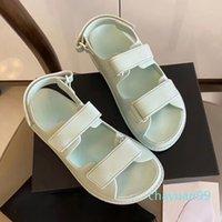 متعدد الألوان أسود ماجيك عصا كريستال العجل الجلود منصة الصنادل النساء الأزياء والأحذية حجم 35 إلى 40 2021