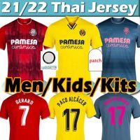 2021 2022 Villarreal CF Jersey 21/22 Pau Gerard Paco Alcacer Chukwue Camiseta Dia A.Pedraza Yeremi FOYTH PAREJO JERSERYS Homens Kits Kits Football Shirt Thai