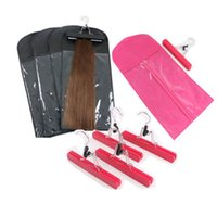 2021 Hair extensions Packing bag Dustproof with hanger for clip hair human weft Professinal hair tools
