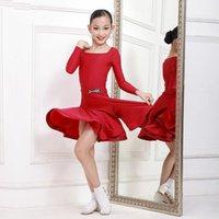 Stage Wear Kid Latin Dance Practice Clothing Girls Rumba Tango Samba Cha Costumes Ballroom Competition Dress DWY6281