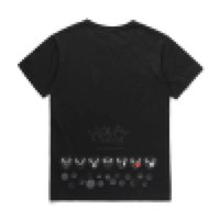 2018 COM 도매 새로운 최고의 품질 블랙 데스 데스 1 프린트 티셔츠 블랙 사이즈 XL 프롬프트 결정 F / S