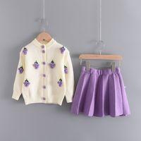 Bear Leader Girls Ropa de invierno Conjunto de manga larga Suéter Falda de camisa 2 PCS Traje Ropa Arco Bebé Trajes para Niños Ropa de Niñas 926 V2