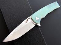 DC-A6 Shirogorov Cuchillo plegable X48 Pocket D2 Blade G10 Mango con funda de nylon de CC Camping Táctico Tactical EDC Herramientas