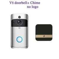 Drahtlose Remote Smart V5 Türklingel 720p Visual Intercom WiFi Home Security Camera Echtzeit-Video-Zwei-Wege-Audio-Nachtsicht-PIR-Bewegungserkennung App-Kontrolle