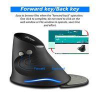 Mice ZELOTES 2.4G Gaming Mouse Ergonomic Upright Optical Wireless LED Game