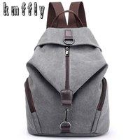 KMFFLY Brand Women Canvas Backpack Preppy Style School Lady Girl Student Laptop Bag Top Quality Mochila Bolsas 211025