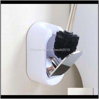 Fırçalar Tutucular Ev Seti Yaratıcı Tırnak Wallmounted Lüks El ve Kulübü Paslanmaz Çelik Tuvalet Fırçası Banyo Dekor Temizleme LFMZA XARYB