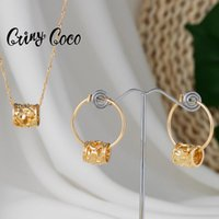 Earrings & Necklace Cring Coco Hawaiian Colorful Pearl Jewelry Sets 2021 Gold Pendant Necklaces Hoops Trendy Summer Set For Women
