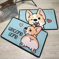 Carpets Creative Rugs Washable Funny Dog Doormat Bath Mats Foot Pad Home Decor Bathroom Door Mat Floor