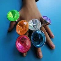 Halloween toys 20Pcs Faux Diamonds Jewelry Finger Rings Pirate Acryl 30Mm Crystal Gems Filler Toys Props Game Confetti Bruiloft Decor gift Mix colour