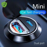 30W PD-Autoladegerät Dual-USB-Typ C C-Mobiltelefon-Ladegerät Metall-Carladung QC3 4.0 Schnellgebühr für iPhone Samsung Huawei Xiaomi