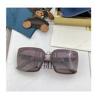 패션 Womens 디자이너 선글라스 최고 품질 브랜드 여성 선글라스 야외 음영 전체 프레임 UV400 안경 렌즈 남성 럭셔리 미러 태양 안경 원래 아가씨