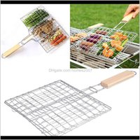 Cooking Eating Patio, Lawn Garden Home & Garden Bbq Outdoor Tools Grilled Fish Clip Roast Meat Hamburger Net Environment Barbecue Aessories W