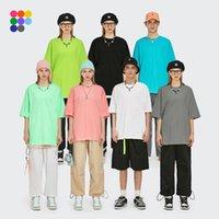 LIME confortable T-shirts Été Classement O-Col O-Col Coloré Lâche Coton Soft Sleeve Sleeve Tees Unisexe Tees 1009s20 Hommes