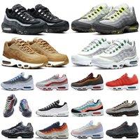 95 الاحذية 95 ثانية رجل إمرأة مدربين أحذية رياضية النيون الداكن دخان رمادي القمح الجشع واضح تراكبات الرجال النساء في الهواء الطلق outdoors الرياضة chaussures