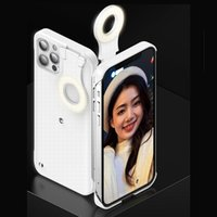 Éclairage de téléphone éclairant pour iPhone 12 Pro Max Cover LED lampe de poche Maquillage Selfie Bague Light Beauty Cas pour iPhone 12 Pro Iphone12