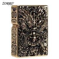 La nouvelle marque Zorro Pure Copper Copper Classic Retro Broying Rouge FLINTPONQUES KEROSENE ALLORH ARMOR DRAGON est disponible pour la collection