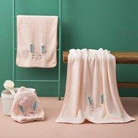 Towel 3pcs Set Coral Velvet Bath Dry Hair Cap Bathroom Sets Hand Turbans For Women Wearable Skirt
