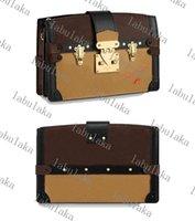 M43596 Clutch Designer Crossbody Dame Smooth Calf-Leder Schulter Geldbörse Leinwand Trim Handtasche Frauen Abendtasche Trunk QvPBV